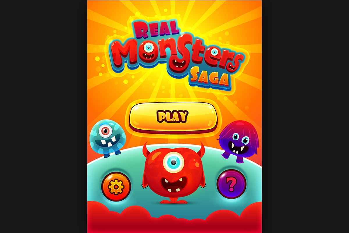 Real-Monster-saga-home-screen